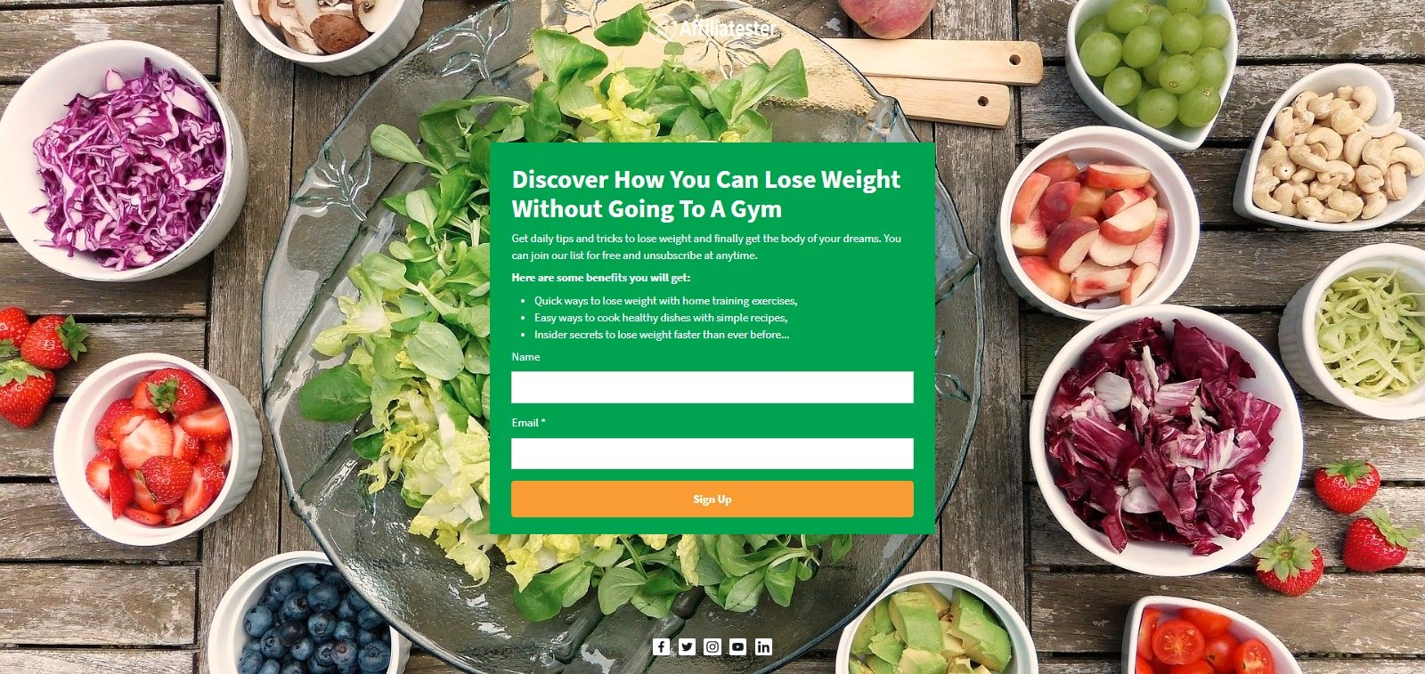 AWeber Landing Page Builder - Health Example 2