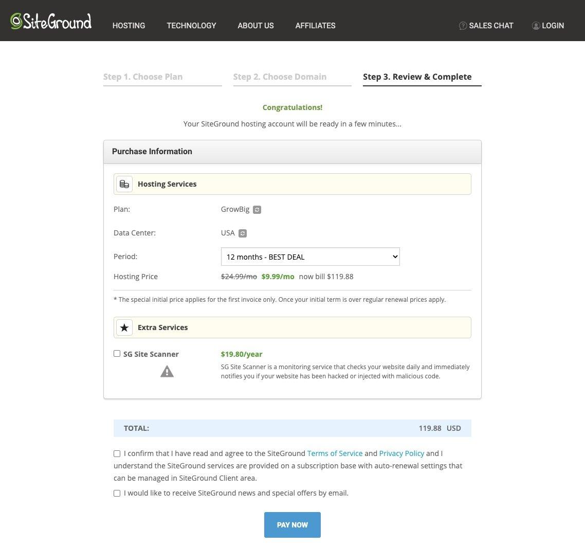 Best Hosting For WordPress - Step 3