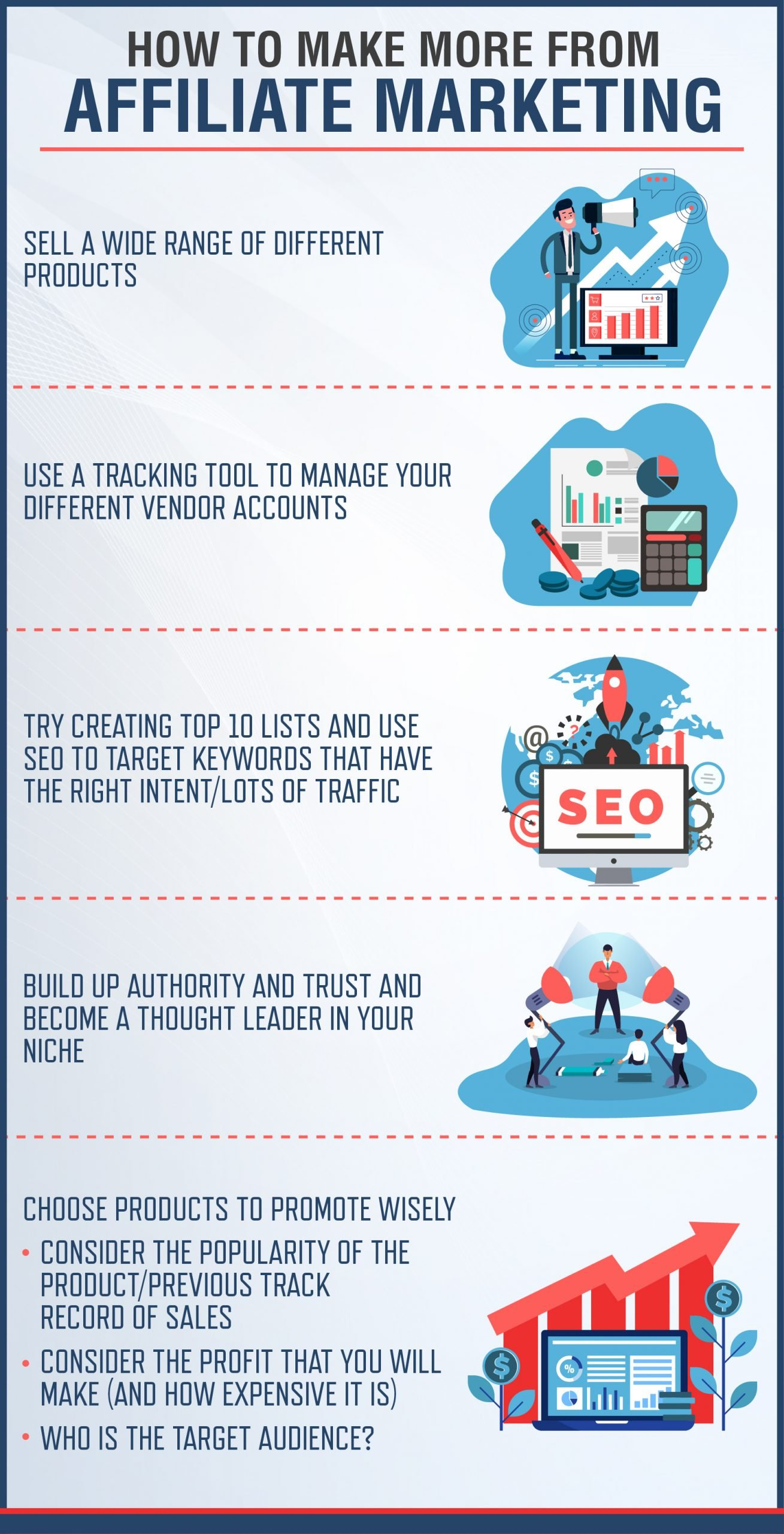 How To Make More From Affiliate Marketing Infographic
